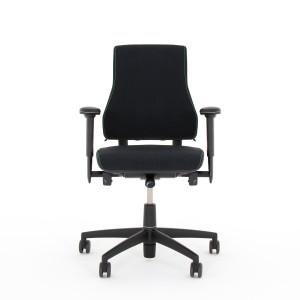 Bürodrehstuhl - AXIA 2.3 schwarz - hoher Rücken dickes Polster