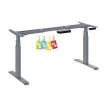 Elektrisch höhenverstellbarer Schreibtischgestell von 625 - 1275 mm mit Memory Bedienfeld, AZ  e-Desk