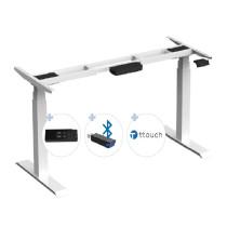 Elektrisch höhenverstellbares Schreibtischgestell mit Digitadisplay und BLUETOOTH stufenlos verstellbar für Tischplatten von 2000 - 2200 mm
