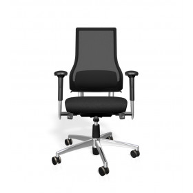Bürodrehstuhl - AXIA 2.5 schwarz - Netweave Rücken